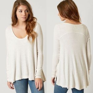 Free People Malibu Thermal Top Oatmeal Heather M